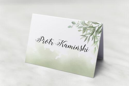 Winietka ślubna do zaproszenia Botaniczne Jednokartkowe - Ruskus