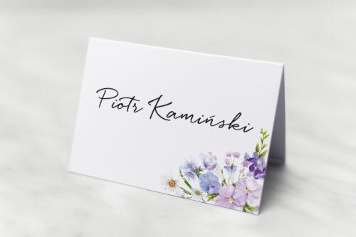 Winietka ślubna do zaproszenia Eleganckie kwiaty - Polny wianek