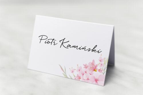Winietka ślubna do zaproszenia Eleganckie kwiaty - Kwiaty wiśni