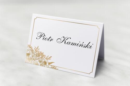 Winietka ślubna do zaproszenia Geometryczne ze zdjęciem - Biała Kompozycja