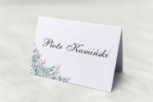 Winietka ślubna do zaproszenia Geometryczne ze zdjęciem - Zimowe Listki