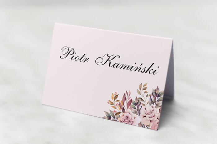 winietka-slubna-kwiatowe-galazki-rozowo-bordowe-roze-papier-satynowany