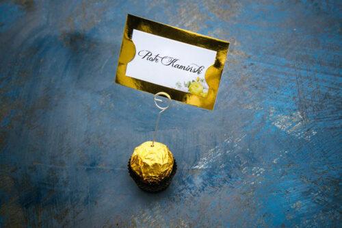 Winietka ślubna do zaproszenia Kwiaty&Złoto - Żółte róże