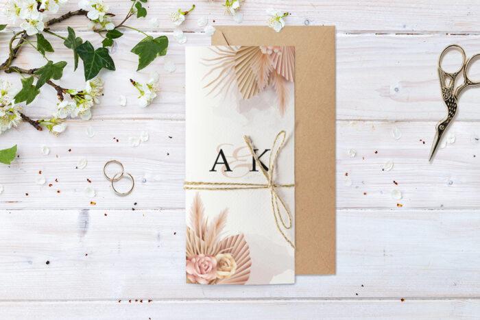 zaproszenie-slubne-ze-sznurkiem-eleganckie-suszone-kwiaty-papier--koperta-bez-koperty-dodatki-