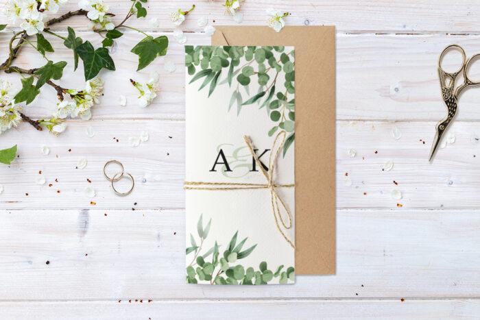 zaproszenie-slubne-ze-sznurkiem-eukaliptus-papier--koperta-bez-koperty-dodatki-