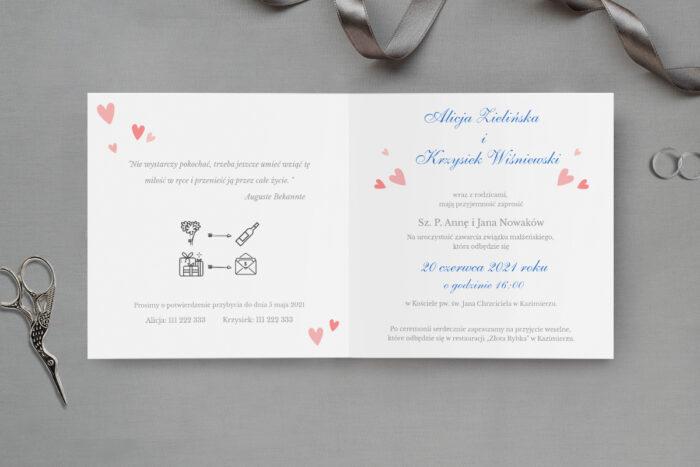 zaproszenie ślubne wspólna podróż