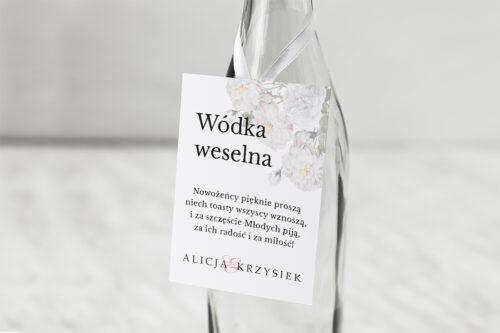 Zawieszka na alkohol do zaproszenia Z parą młodą - Tańczący Walca