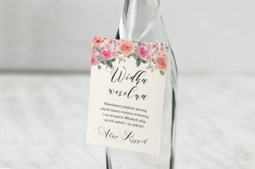Zawieszka ślubna na alkohol - Angielskie Róże – Różowe i Herbaciane