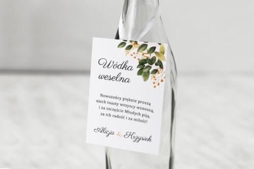 Zawieszka na alkohol do zaproszenia Botaniczne Jednokartkowe - Jesienna kompozycja
