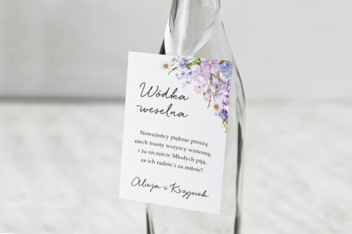 Zawieszka na alkohol do zaproszenia Eleganckie kwiaty - Polny wianek