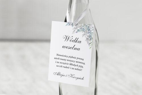 Zawieszka na alkohol do zaproszenia Geometryczne ze zdjęciem - Zimowe Listki