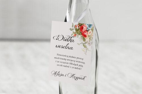Zawieszka na alkohol - Kwiatowe Gałązki - Białe Kalie