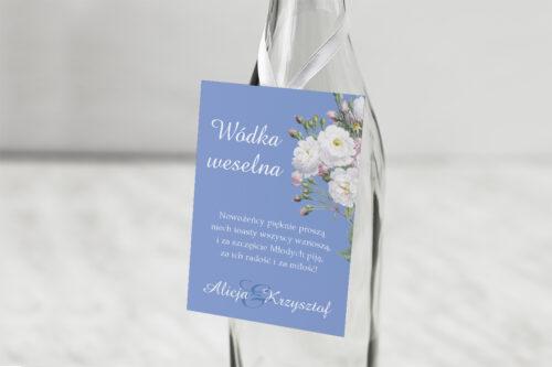 Zawieszka na alkohol do zaproszenia Kwiatowe Nawy - Białe róże