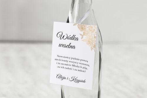 Zawieszka na alkohol do zaproszenia Z parą młodą - Wtuleni