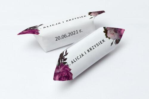 Krówki ślubne 1 kg - BOHO ECO - czerwona stulistna róża