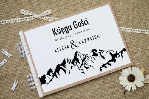 Księga gości ślubnych BOHO Czerwone&Eco – Góry