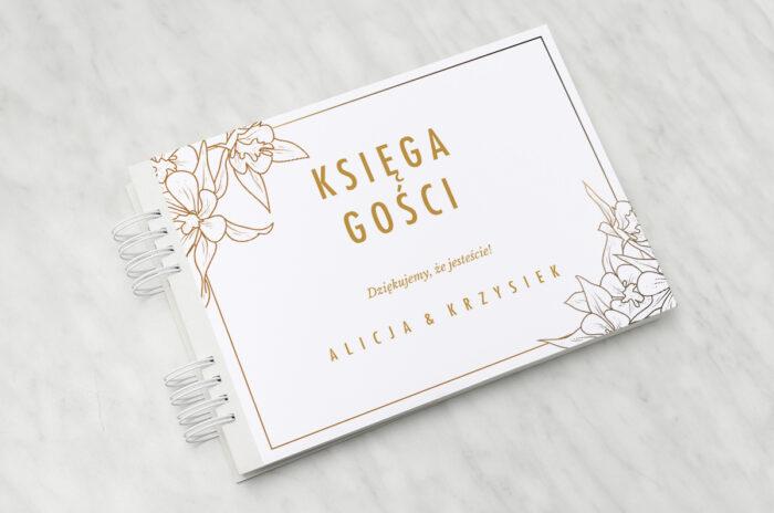 ksiega-gosci-slubnych-geometryczne-czarno-biale-minimalistyczne-kwiatuszki-jasne-papier-matowy-dodatki-ksiega-gosci