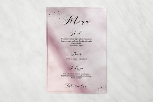 Menu weselne pasujące do zaproszenia Geometryczne Nowoczesne – Róż & Złoto - Jasne