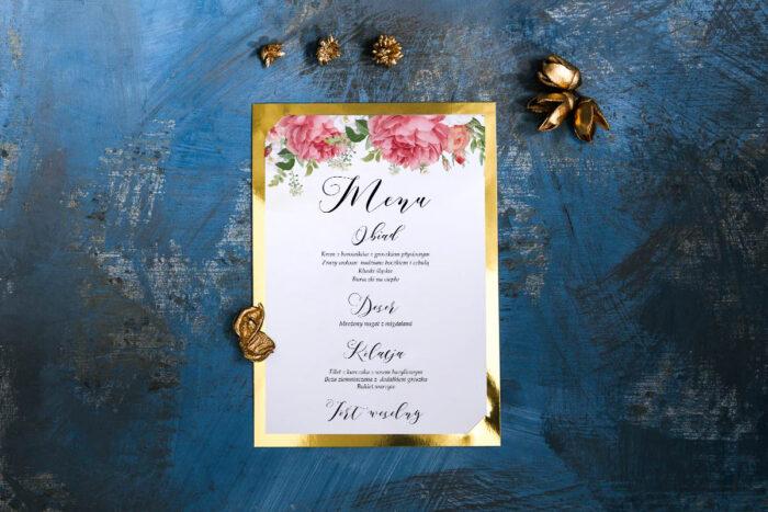 menu-weselne-ze-zlota-podkladka-koralowe-roze-papier-matowy-podkladki-