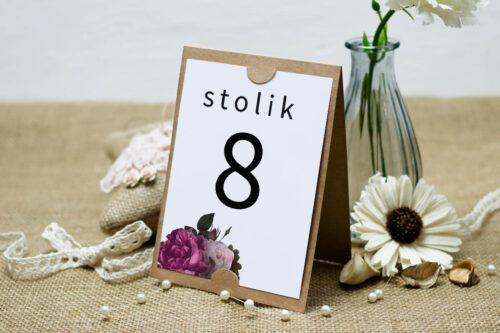 Numer stolika BOHO ECO - czerwona stulistna róża