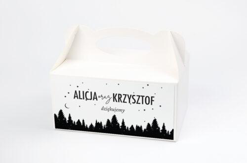 Ozdobne pudełko na ciasto BOHO Czerwone&Eco – Las