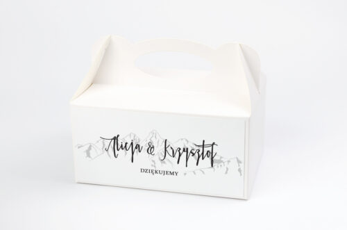 Ozdobne pudełko na ciasto - Boho – Widok na góry