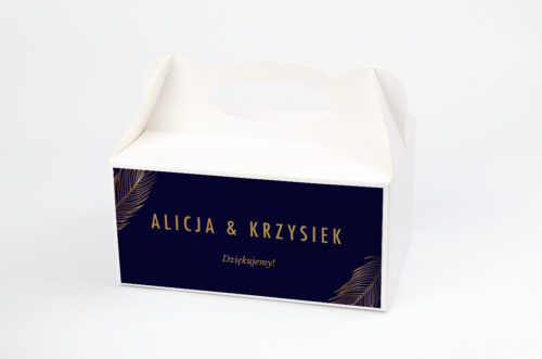 Ozdobne pudełko na ciasto - Geometryczne Nowoczesne – Tropikalne - Ciemne