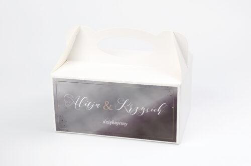 Ozdobne pudełko na ciasto - Geometryczne Nowoczesne – Róż & Złoto - Ciemne