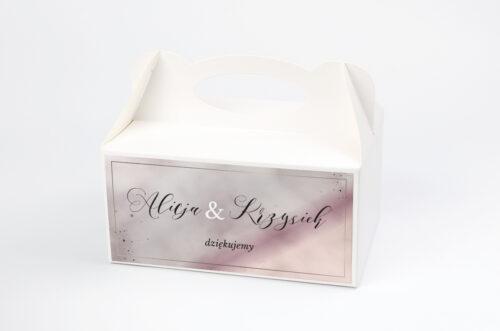 Ozdobne pudełko na ciasto - Geometryczne Nowoczesne – Róż & Złoto - Jasne