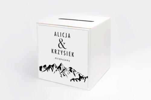 Pudełko na koperty do zaproszenia BOHO Czerwone&Eco – Góry