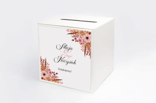 Personalizowane pudełko na koperty - Jesienne ECO – Suszony bukiet