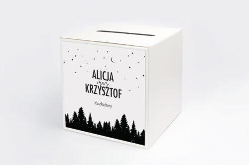 Pudełko na koperty do zaproszenia BOHO Czerwone&Eco – Las