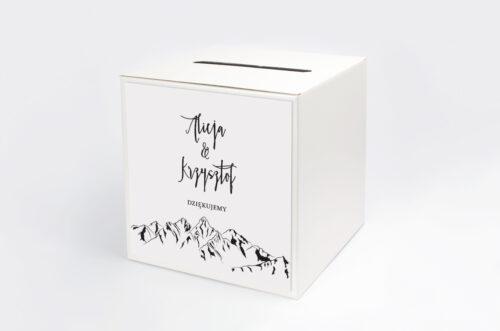 Personalizowane pudełko na koperty - Boho - Widok na góry