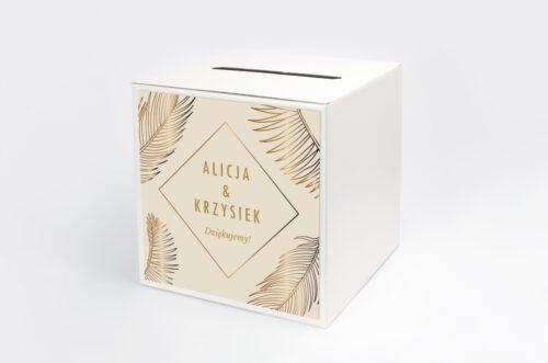 Personalizowane pudełko na koperty - Geometryczne Nowoczesne – Tropikalne - Jasne