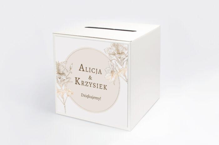 personalizowane-pudelko-na-koperty-geometryczne-czarno-biale-delikatne-lilie-jasne-papier-satynowany-pudelko-