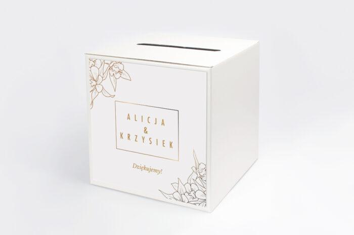 personalizowane-pudelko-na-koperty-geometryczne-czarno-biale-minimalistyczne-kwiatuszki-jasne-papier-satynowany-pudelko-
