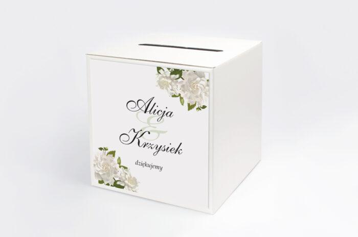 personalizowane-pudelko-na-koperty-ze-srebrna-podkladka-biale-roze-papier-satynowany-pudelko-