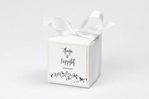 Ozdobne pudełeczko z personalizacją - Boho - Widok na góry