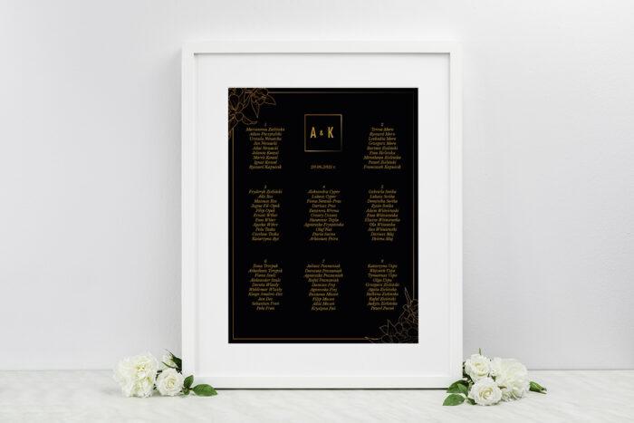 plan-stolow-weselnych-do-zaproszen-geometryczne-czarno-biale-minimalistyczne-kwiatuszki-ciemne-dodatki-ramka-papier-matowy
