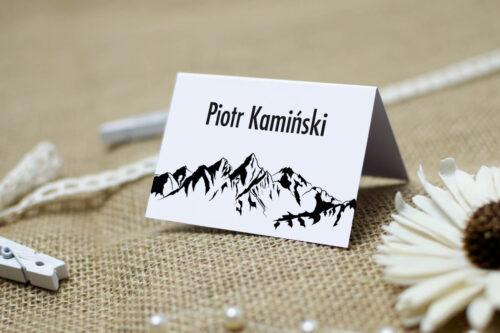 Winietka ślubna do zaproszenia BOHO Czerwone&Eco – Góry