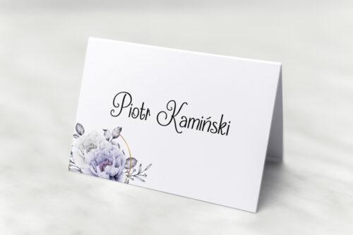 Winietka ślubna - Siwe kwiaty na kole