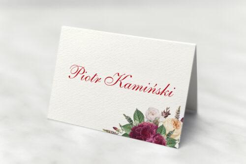 Winietka ślubna - Angielskie Róże – Burgundowe