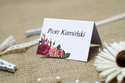 Winietka ślubna do zaproszenia BOHO Czerwone&Eco – Bordowe Kwiaty