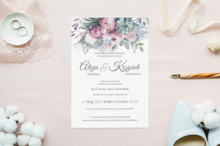 zaproszenie-slubne-akwarelowe-polne-kwiaty-jaskry-papier-matowy-350g-koperta-b6-szara-bez-wklejki