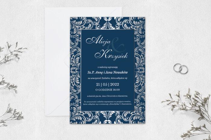 zaproszenie-slubne-jednokartkowe-srebrna-elegancja-stylowe-papier-matowy-koperta-bez-koperty