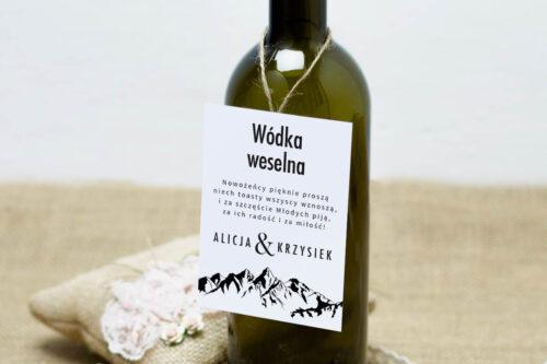 Zawieszka na alkohol do zaproszeń BOHO Czerwone&Eco – Góry