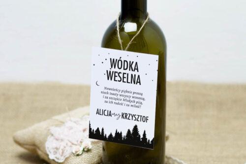 Zawieszka na alkohol do zaproszeń BOHO Czerwone&Eco – Las