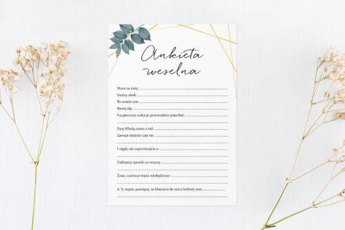 ankieta weselna w geometryczne liście