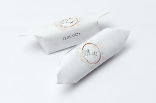 Krówki ślubne 1 kg - Z szyfonową wstążką – Magnolia