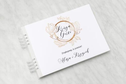 Księga gości ślubnych - Z szyfonową wstążką – Magnolia